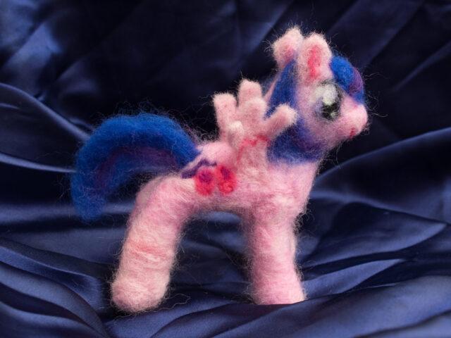 needle felting: MLP Pegasus