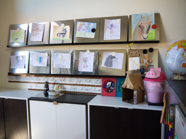 organized homeschool room